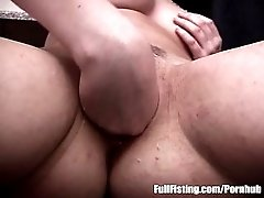 Teen Pussy Fisted And Fucked Over The Counter