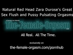Hot Natural Redhead Masturbates to Big Pulsating Orgasms with Sex Flush