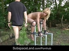 Bdsm educationnal measures for unobedient blonde