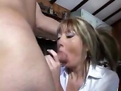 hot milf from LOOK4MILF.COM seduces 3 workers to fuck her
