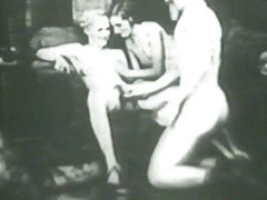 Threesome fucking vintage fun