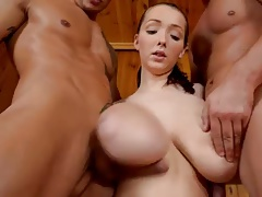 monster titts fucked in sauna